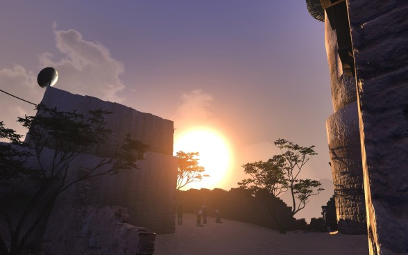Praise Ra, the Sun God, for this magnificent land! (Btw, staring directly into the sun is only safe in computer games.)
