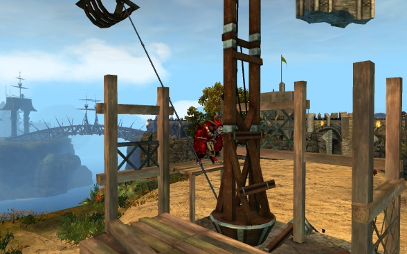 If in doubt, climb on it... everything's a jumping puzzle these days...