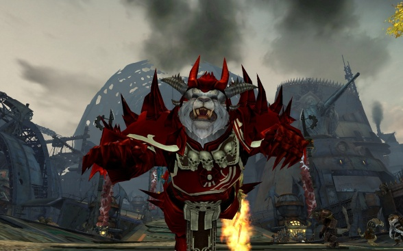 Yes, I still do take random screenshots for fun... I like the Charr run animation a lot.