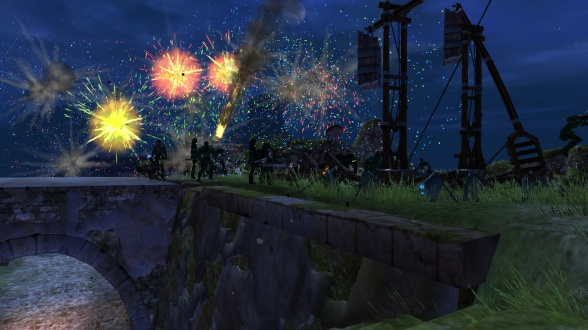 Quick, use these fireworks so they don't see the trebs!