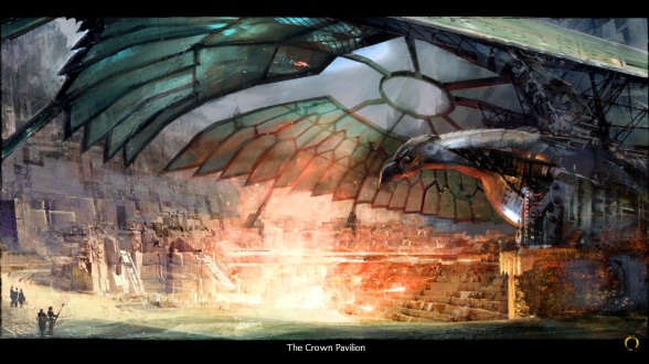 One thing I do like? The concept art for the arena is majorly cool.