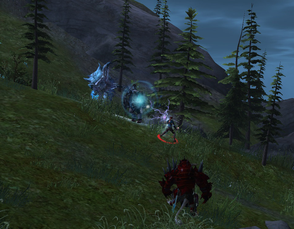 An Aetherblade Norn goes ice wurm hunting after a hard day's work beating up an emissary.