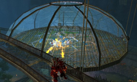 This cage had oozes that didn't go away. Liadri + oozes providing AoE healing = difficulty that breaks any measuring scale you use. Wasted ticket there. (Well, I had to try to see if the oozes would hit her. They didn't.) This guy is now finding out that the first boss with oozes ain't so fun either, I suppose.