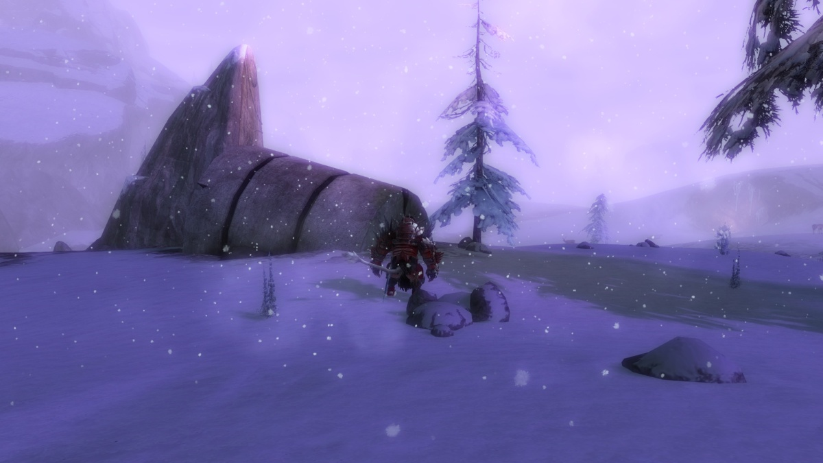 I also got caught in a very weird weather phenomenon. A winter storm with purple lightning flashing all around that gave me chills up my spine regarding chaos magic and potential Thaumanova revelations.