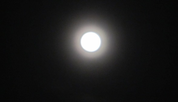 It's a tunnel! It's a digitally doctored circle! It's the moon as taken with a cruddy camera!