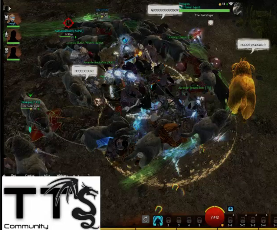Screen cap off Merforga's Twitch stream - You can watch the whole gleeful setup at http://www.twitch.tv/merforga1/b/497725115