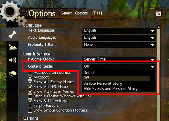 PSA: You can turn off the compass or content guide via the options here!