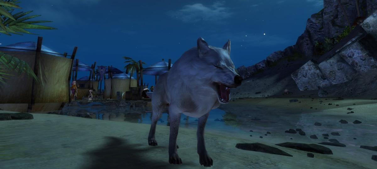 Great big wolfy yawn...