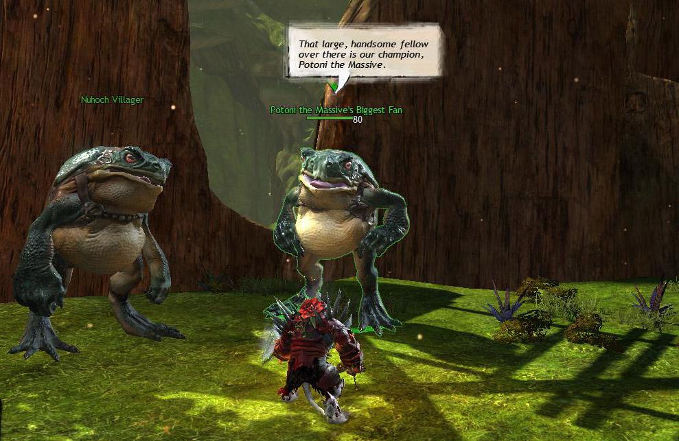 That's a pretty big frog.